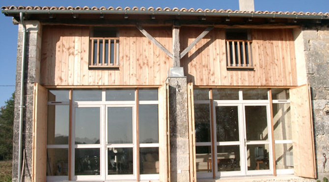 paul segura architecte logements transformation d une grange en logement. Black Bedroom Furniture Sets. Home Design Ideas